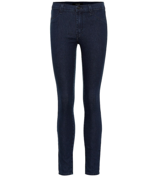 J Brand 925 mid-rise skinny jeans in blue