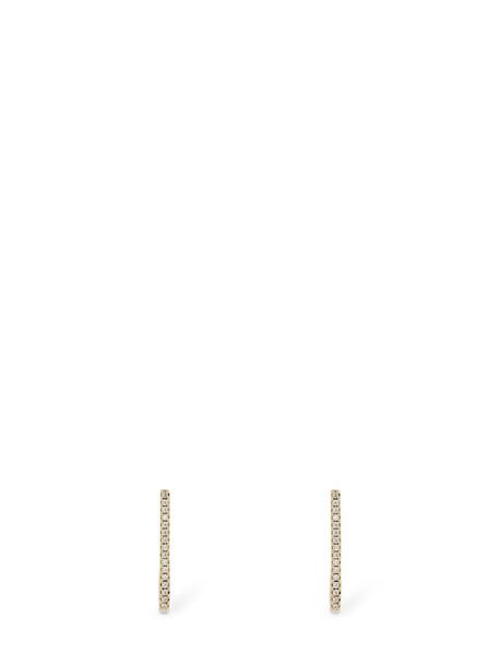 FEDERICA TOSI Pin Crystal Earrings in gold