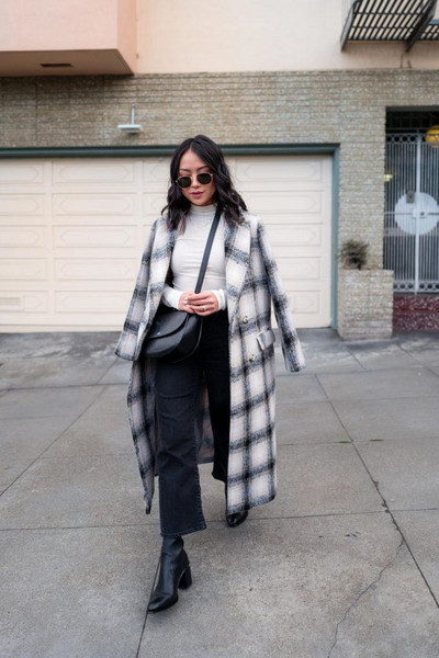 the fancy pants report blogger coat top bag shoes sunglasses