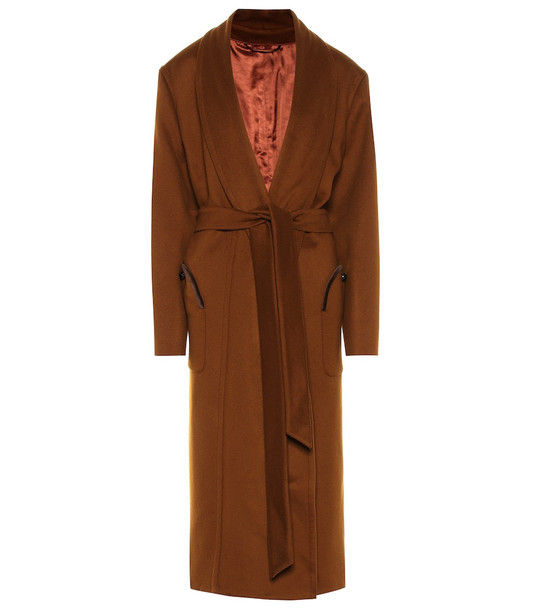 Blazé Milano Whistler wool and cashmere coat in brown