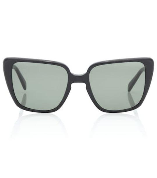 Celine Eyewear Rectangular butterfly sunglasses in black