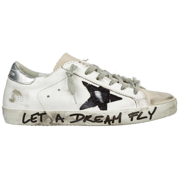 Golden Goose Shoes Leather Trainers Sneakers Superstar in black / white
