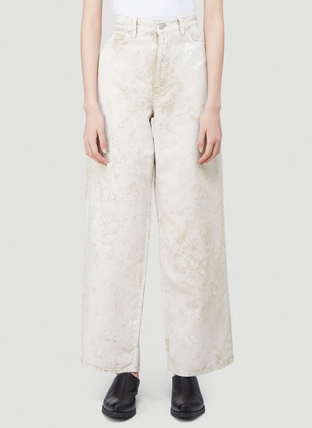 Our Legacy Wide-Leg Jeans in White size FR - 36