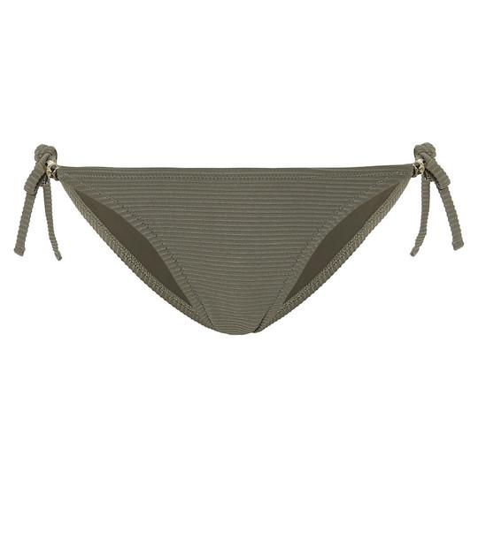 Heidi Klein Venice tie-side bikini bottoms in green