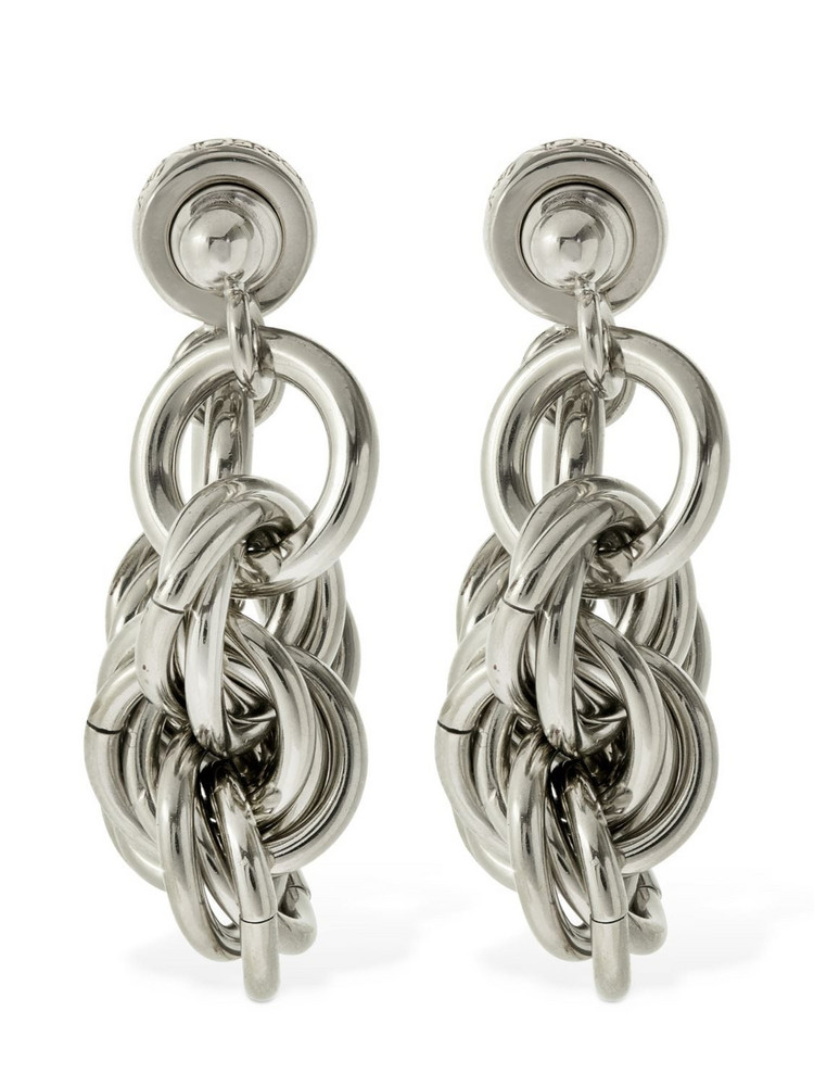 JW ANDERSON Folded Multi-link Earrings in silver