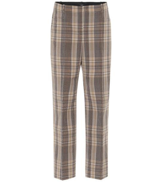 Joseph Sloe checked high-rise slim pants in brown