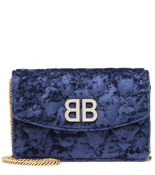 Balenciaga BB Wallet On Chain shoulder bag in blue