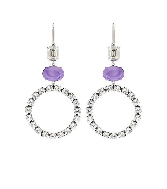 Isabel Marant Crystal-embellished hoop earrings in silver