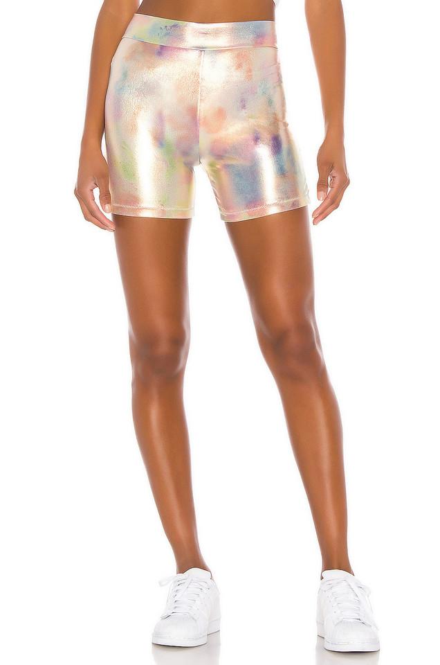 Bond Eye Slink Bike Shorts in gold / metallic