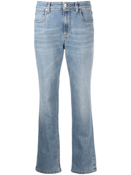 Brunello Cucinelli mid-rise straight-leg jeans in blue