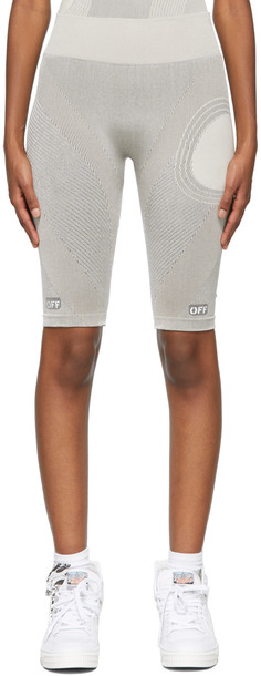 Off-White Grey Meteor Cycle Sport Shorts