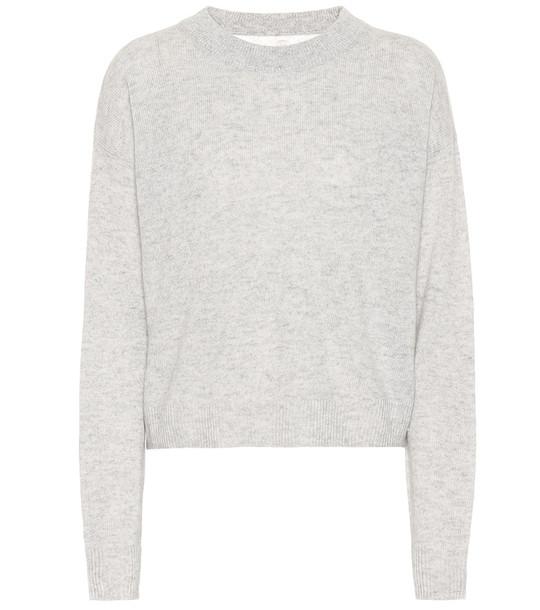 Jardin des Orangers Wool and cashmere sweater in grey