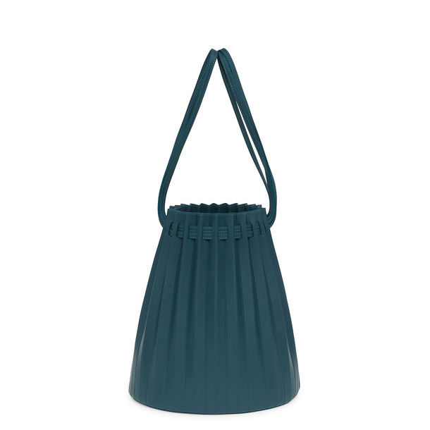 Mansur Gavriel Lamb Pleated Bucket Bag - Midnight Blue