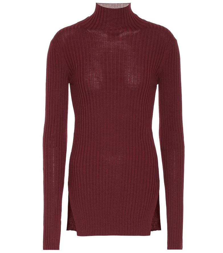 Plan C Wool turtleneck sweater in purple
