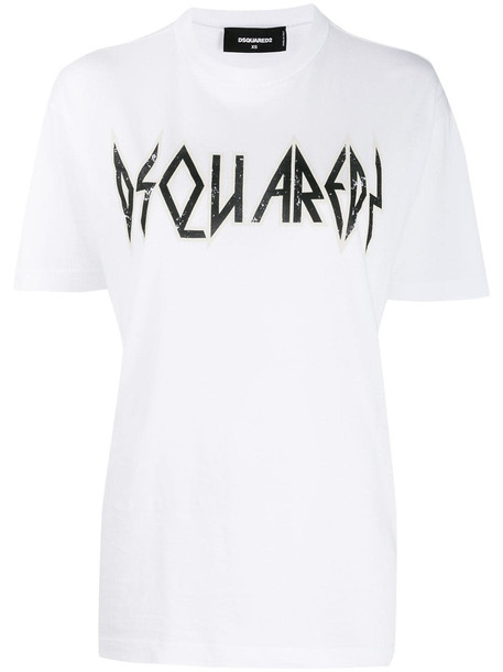 Dsquared2 Rock Fit T-shirt in white