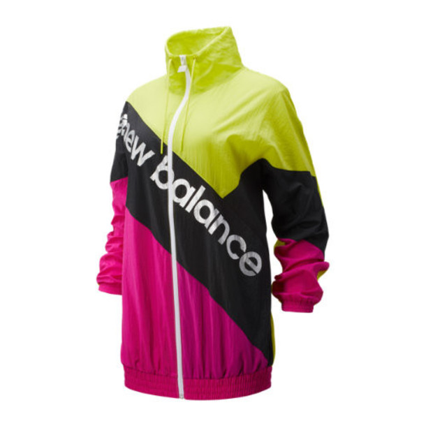 New Balance 93505 Women's Sport Style Optiks Windbreaker - Green/Pink/Black (WJ93505SYE)