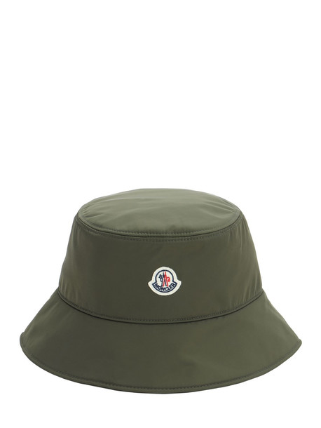 MONCLER Wide Brim Nylon Bucket Hat in green