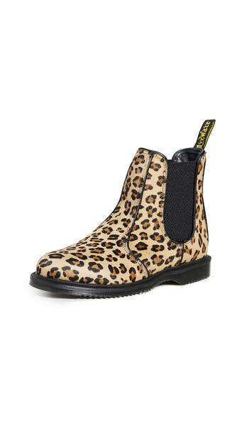 Dr. Martens Flora Hair On Chelsea Boots in leopard