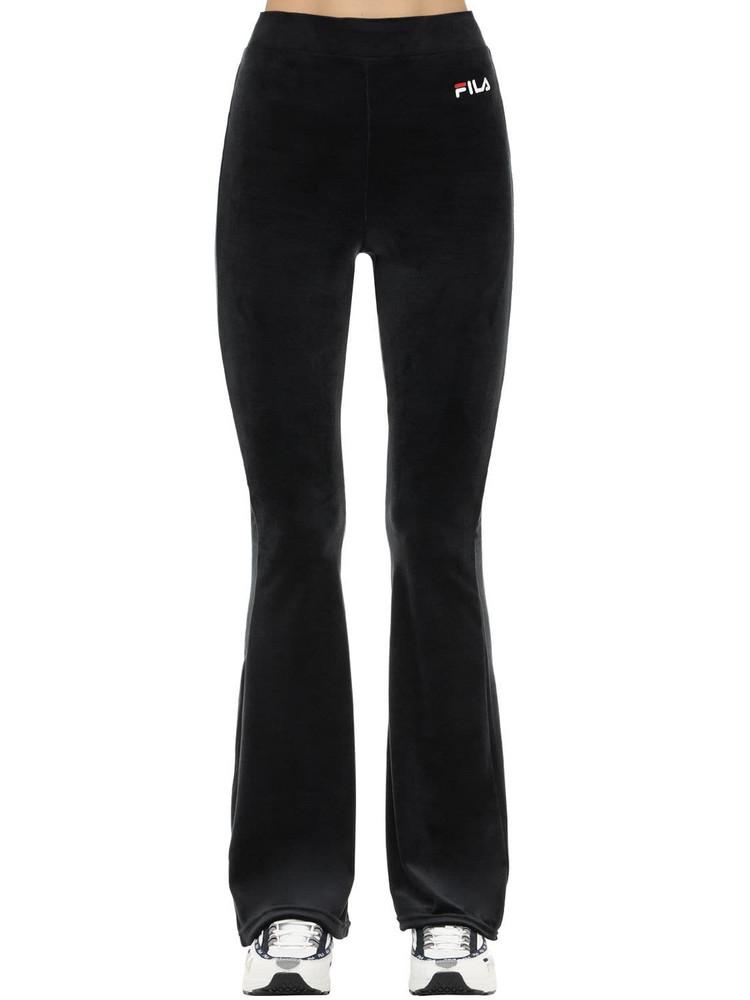 FILA URBAN Tonia Cotton Blend Flared Pants in black