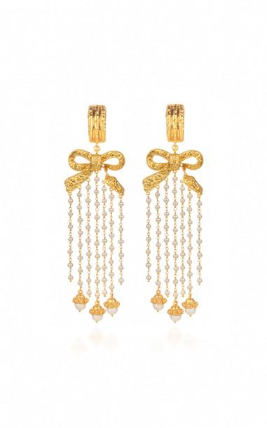 VALÉRE Dream Weaver Earrings in white