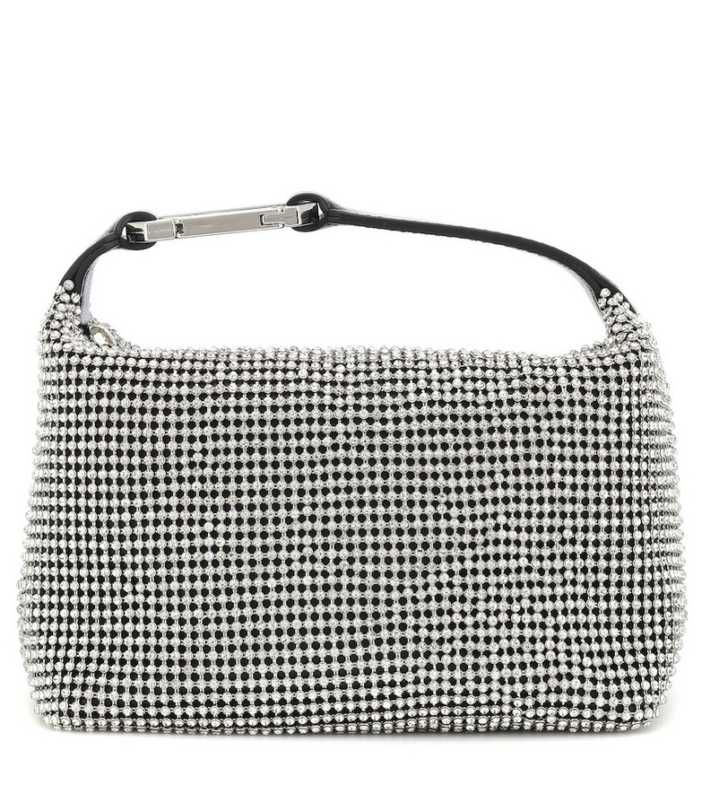 Eera Exclusive to Mytheresa – Moonbag embellished mesh pouch in silver