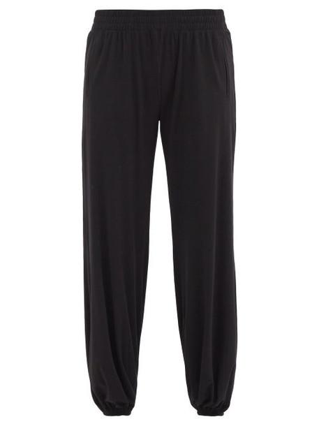 Norma Kamali - Puff Cuff-ankle Jersey Track Pants - Womens - Black
