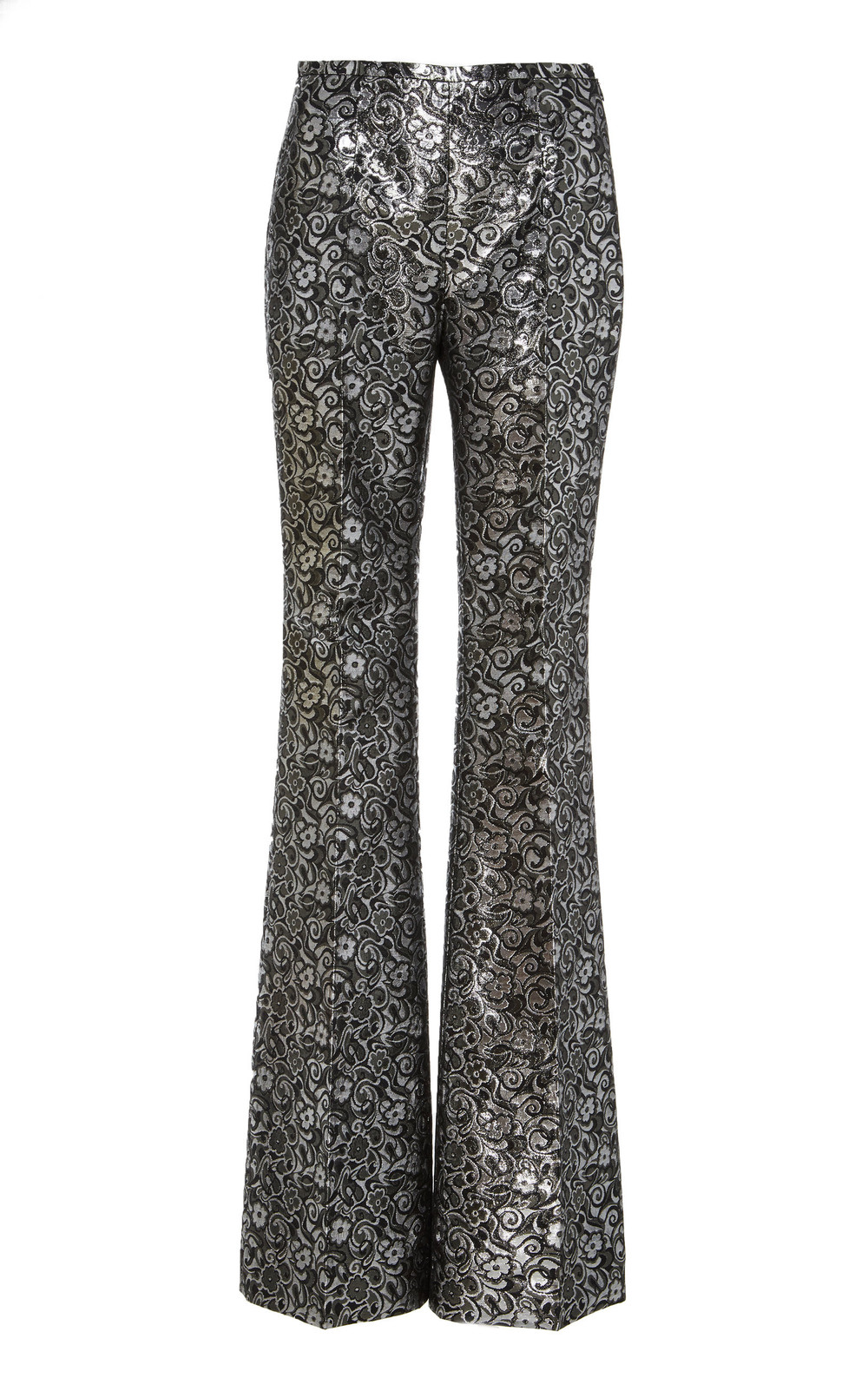 Michael Kors Collection Side Zip Flare Pant in silver