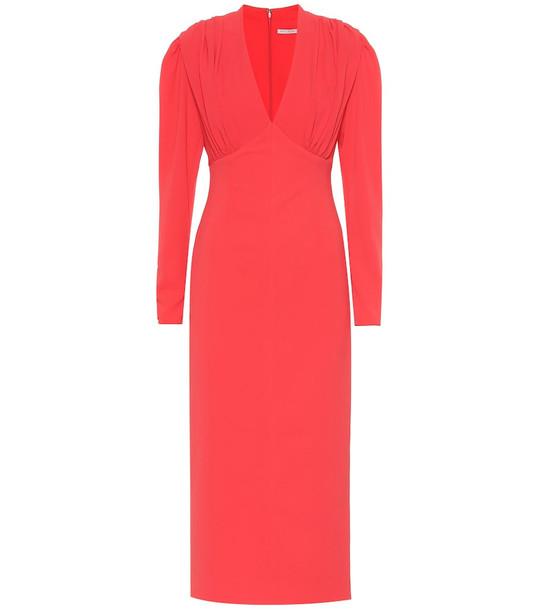 Emilia Wickstead Iliana midi dress in red