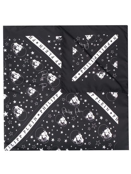 Philipp Plein square scarf in black