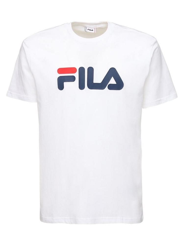 FILA URBAN Logo Print Cotton T-shirt in white
