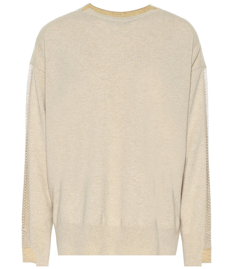 Stella McCartney Cashmere and wool sweater in beige