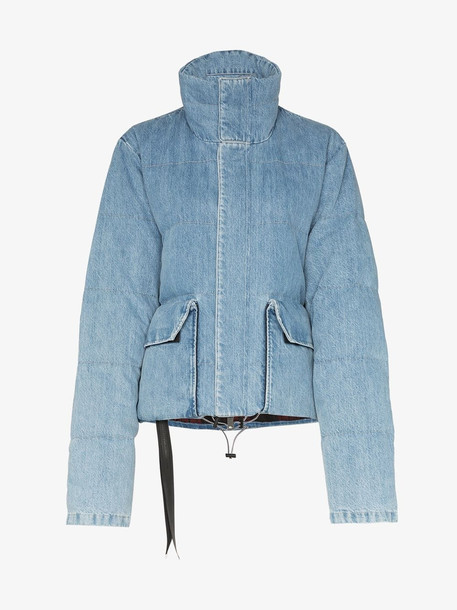 Unravel Project Padded denim jacket