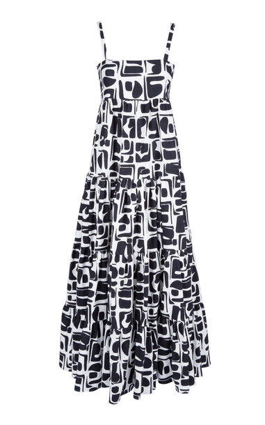 La DoubleJ Printed Cotton-Blend Maxi Dress Size: XS