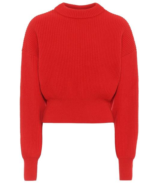 Cordova Megève merino wool sweater in red