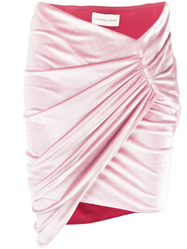Alexandre Vauthier ruched mini skirt in pink