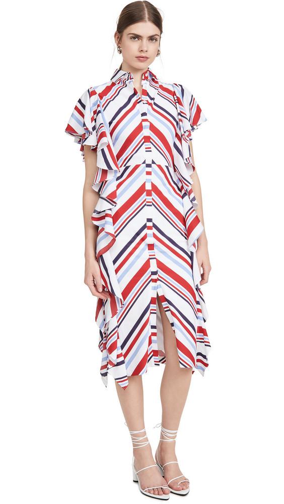 Stella Jean Abito Popeline Riga Dress in multi