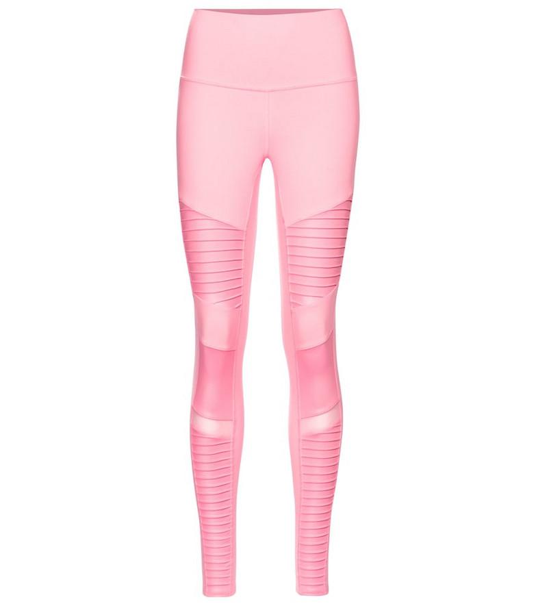 Alo Yoga Moto leggings in pink