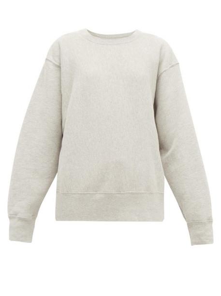 Les Tien - Loopback Cotton Sweatshirt - Womens - Grey