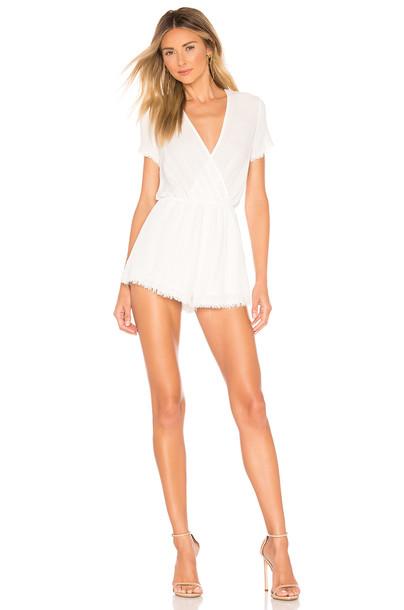 superdown Melissa Surplice Romper in white