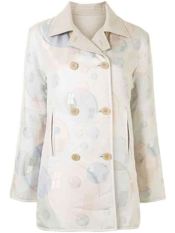Hermès pre-owned bubble print reversible jacket