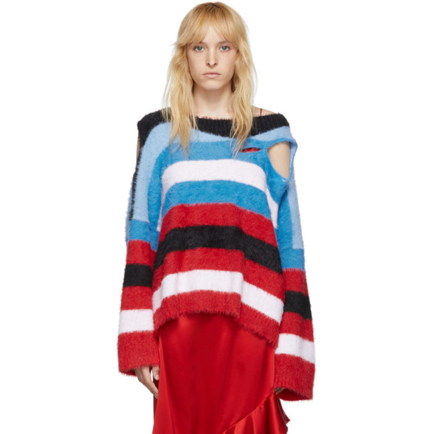 Charles Jeffrey Loverboy Blue Wild Things Sweater