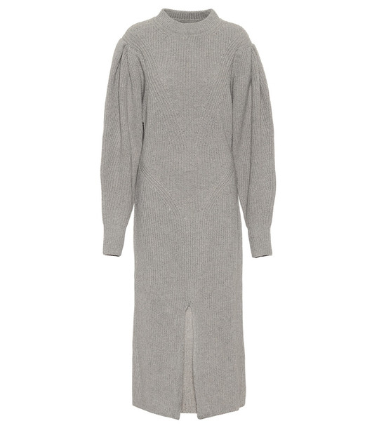 Isabel Marant Perrine cashmere and wool midi dress in grey