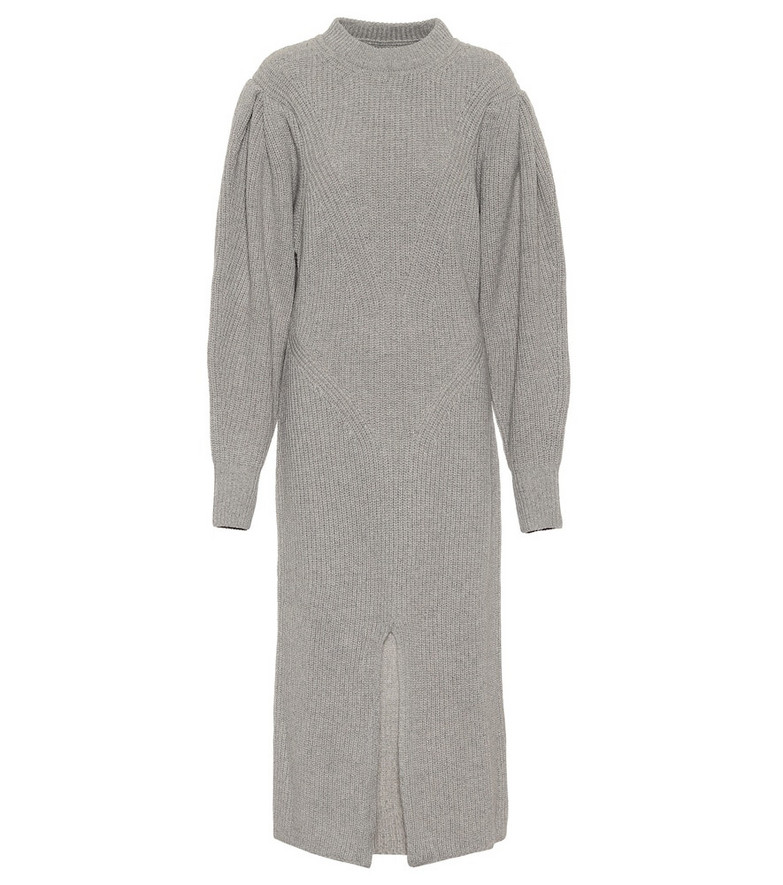 Isabel Marant Perrine cashmere and wool midi dress in grey