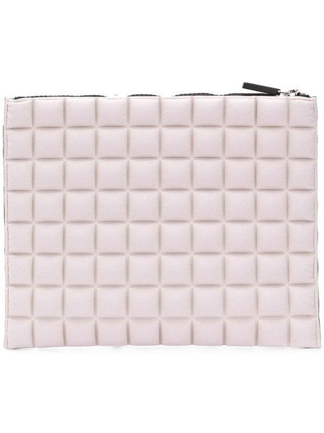 No Ka' Oi chocolate bar quilted clutch in pink