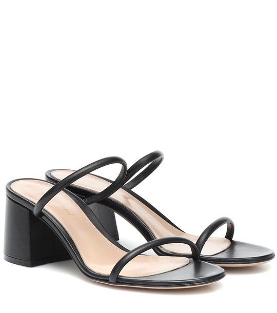 Gianvito Rossi Leather sandals in black