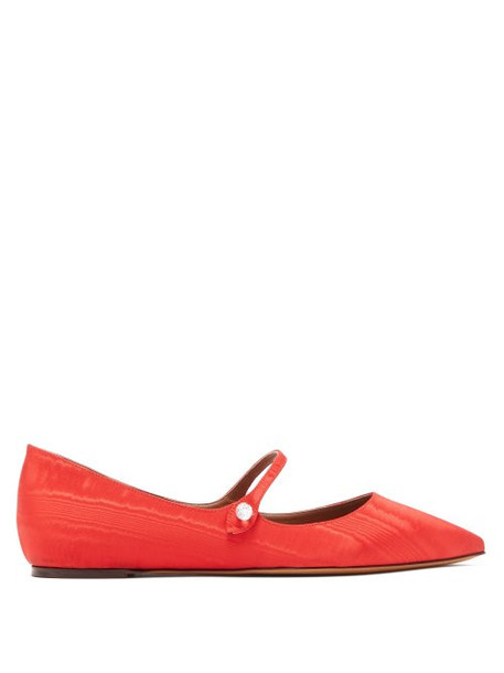 Tabitha Simmons - Hermione Crystal Mary Jane Flats - Womens - Red