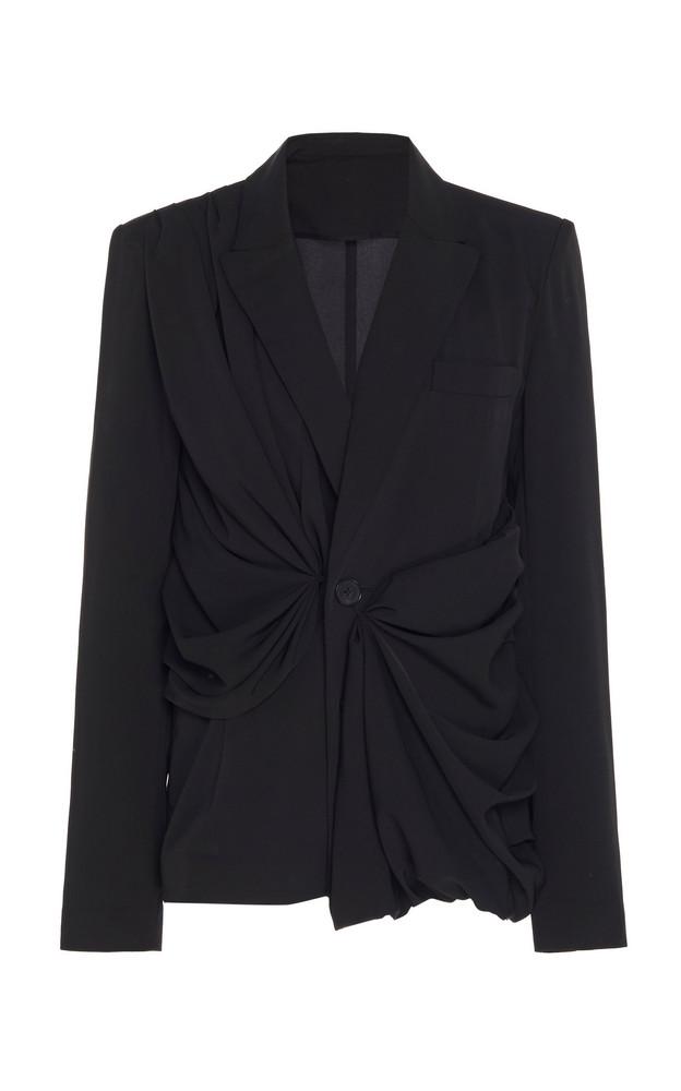 Marta Jakubowski Marla Ruched Cady Blazer Size: XS in black