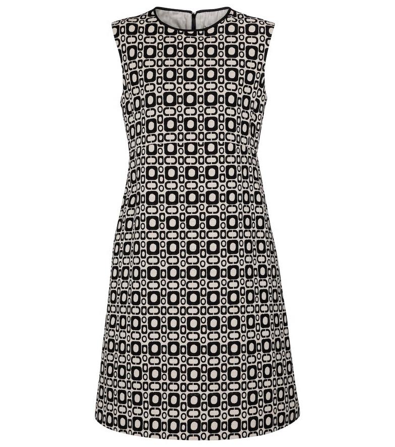 S Max Mara Aosta printed cotton-blend minidress in black