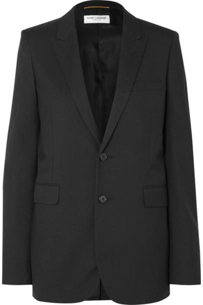 SAINT LAURENT - Wool-gabardine Blazer - Black
