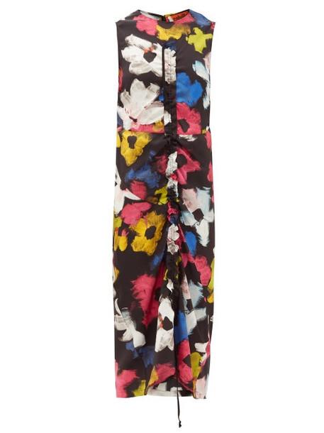 Colville - Floral-print Satin Maxi-dress - Womens - Multi
